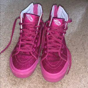 Pink sparkle Vans size 3
